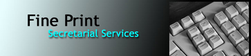 Fine Print Secretarial Services Logo